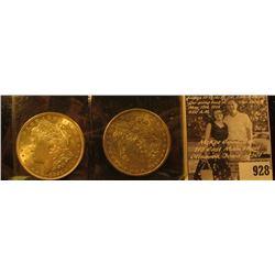 1890 P EF & 1921 P BU Morgan Silver Dollars.
