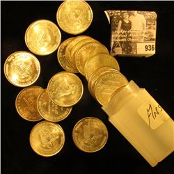 "Original BU Roll of (20) 1981 ""One Troy Ounce /31.1 Grams/.999 Fine Silver/Silver Trade Unit"" Medall"