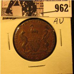 962 . 1793 Manchester Promissory Half Penny, AU.