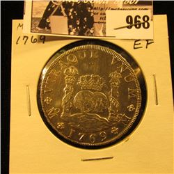 "968 . 1769 MF Mexico Eight Real ""Pillar Dollar"", EF."