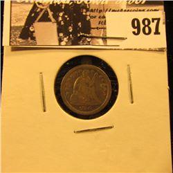 987 . 1856 O U.S. Half Dime, Fine.