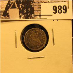 989 . 1857 O U.S. Half Dime, Very Fine.