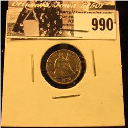 990 . 1872 P U.S. Half Dime, EF.