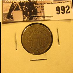 992 . 1882 Shield Nickel Fine+