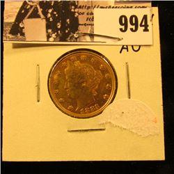 """994 . 1883 U.S. """"Racketeer"""" Liberty Nickel, host coin is AU."""
