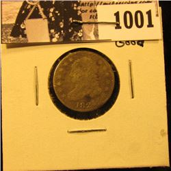 1001 . 1821 Capped Bust Dime, Good.