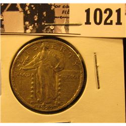 1021 . 1927 P Standing Liberty Quarter,. AU55-58.