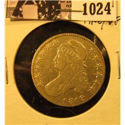 1024 . 1819 Capped Bust Half Dollar, Fine/VF.