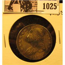 1025 . 1835 Capped Bust Half Dollar, VF30.