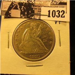 1032 . 1875 CC U.S. Seated Liberty Half Dollar, Very Fine, some graffiti on obverse.