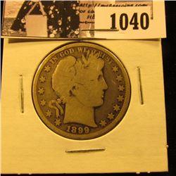 1040 . 1899 P U.S. Barber Half Dollar, G.