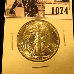1074 . 1943 P Walking Liberty Half Dollar. Gem BU.