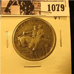 1079 . 1925 Stone Mountain Commemorative Silver Half-Dollar, VF.