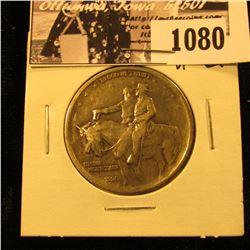 1080 . 1925 Stone Mountain Commemorative Silver Half-Dollar, VF-EF.