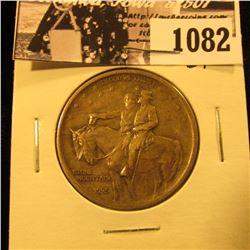 1082 . 1925 Stone Mountain Commemorative Silver Half-Dollar, EF.