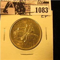 1083 . 1925 Stone Mountain Commemorative Silver Half-Dollar, EF.
