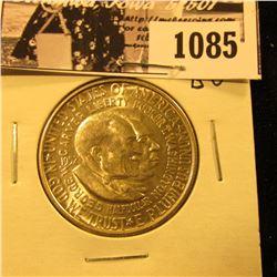 1085 . 1952 P Washington/Carver Commemorative Silver Half-Dollar, Brilliant Uncirculated.