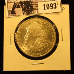 1093 . 1885 O U.S. Morgan Dollar, Brilliant Uncirculated.