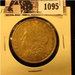 1095 . 1889 P U.S. Morgan Dollar, Lightly toned AU-BU.