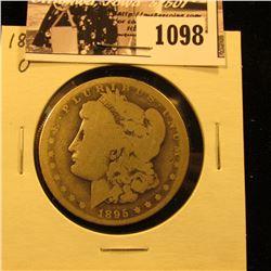 1098 . 1895 O U.S. Morgan Silver Dollar, AG.