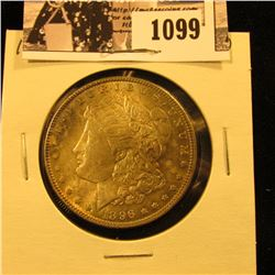 1099 . 1896 P U.S. Morgan Silver Dollar, AU. Nice natural toning.