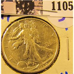1105 . 1919 P Walking Liberty Half Dollar