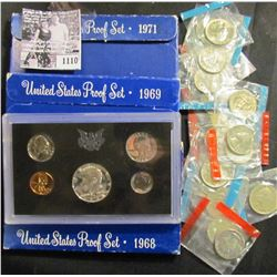 1110 . Group of Quarters From Mint Sets; & 1968S, 1969S, & 1971S Proof Sets