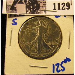1129 . 1916-S Walking Liberty Half Dollar