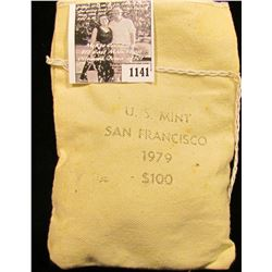 1141 . One hundred 1979 San Francisco Mint Susan B Anthony Dollars in original mint sewn bag.