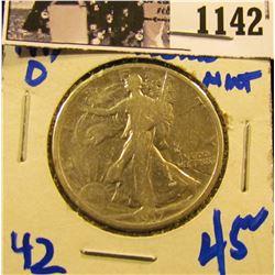 1142 . 1917-D Walking Liberty Half