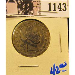 1143 . 1913 P Barber Quarter