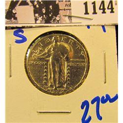 1144 . 1929-S Standing Liberty Quarter