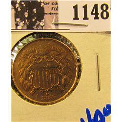 1148 . 1865 U.S. Two Cent Piece