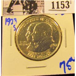 1153 . 1923-S Monroe Doctrine silver commemorative half dollar