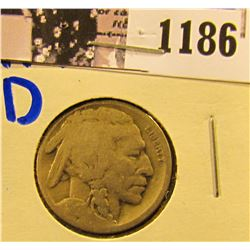 1186 . 1917-D Semi Key Date Buffalo Nickel