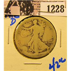 1228 . 1916-D Walking Liberty Half Dollar