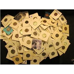 1244 . Big Bag Of Coins Includes Buffalo Nickels, Indian Head Pennies, Proof Coins, And More