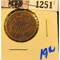 1251 . 1865 Two Cent Piece