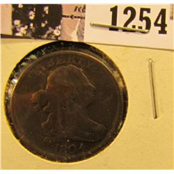1254 . 1804 Draped Bust Half Cent