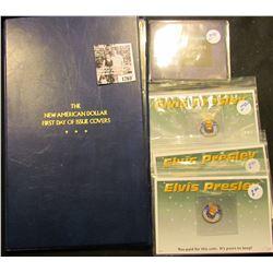 1260 . (3) Elvis Presley Novelty Quarters; 1978-D Ike Dollar & Info Set;  & Susan B Anthony Dollar &