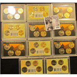 1261 . Dealer Lot Of Eleven Westward Journey Nickel Sets