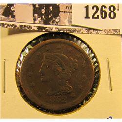 1268 . 1852 Braided Hair Large Cent