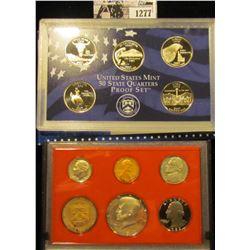 1277 . 2007 S U.S. State Quarters Proof Set, Original as issued; & 1982 S U.S. Proof Set, original a