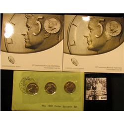 1288 . (2) 50th Anniversary Kennedy Half Sets, each Set Comes with a half dollar From The Philadelph