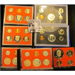 1295 . (2) 1970 S, 78 S, 80 S, 81S, & (2) 82 S U.S. Proof Sets