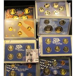1304 . 1999 S, 2000 S, & 2009 S U.S.  Proof Sets