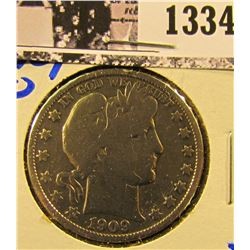 1334 . 1909-O Barber Half Dollar from the New Orleans Mint