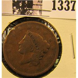 1337 . 1837 Coronet Head Large Cent