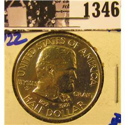 1346 . 1922 Grant Commemorative Silver Half Dollar
