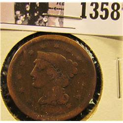1358 . 1852 Braided Hair Large Cent